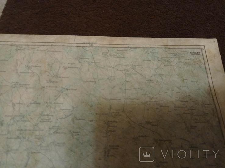Копия немецкой карты  города  Могилев, фото №6