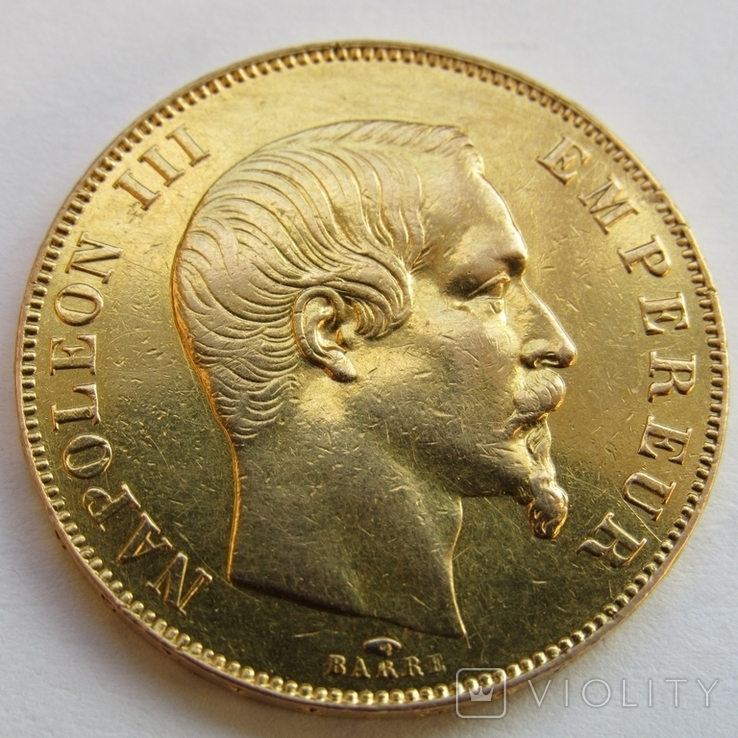 50 франков 1857 г. Франция
