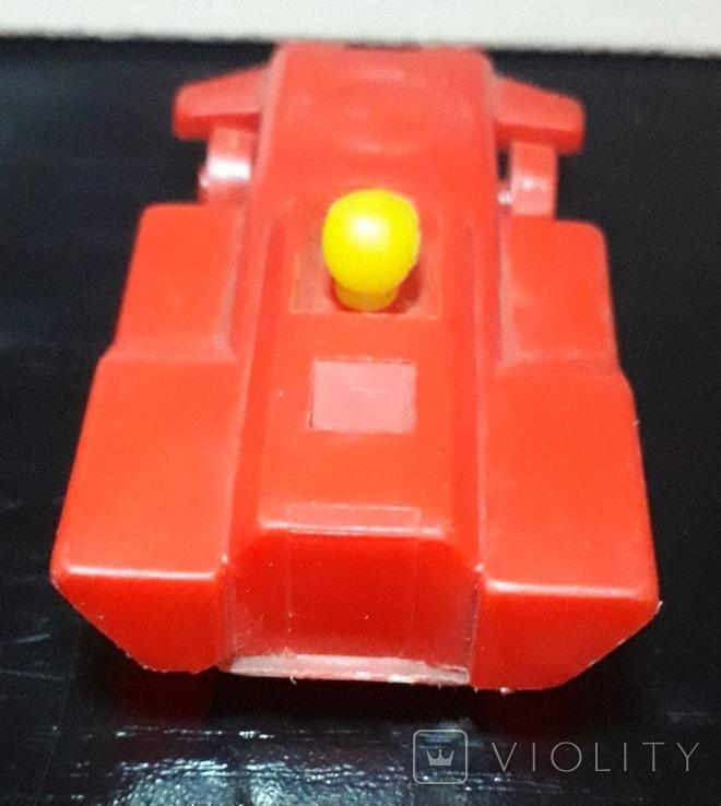 Винтажная миниатюрная гоночная машинка с гонщиком из СССР, клеймо, фото №9