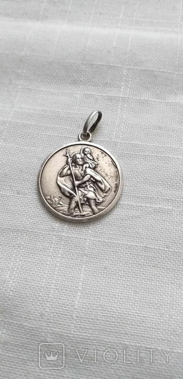 Серебряные медальоны 800 пробы, фото №3