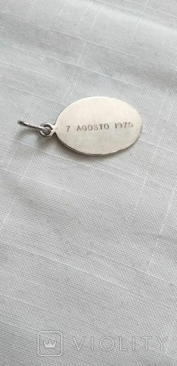 Серебряные медальоны 800 пробы, фото №8