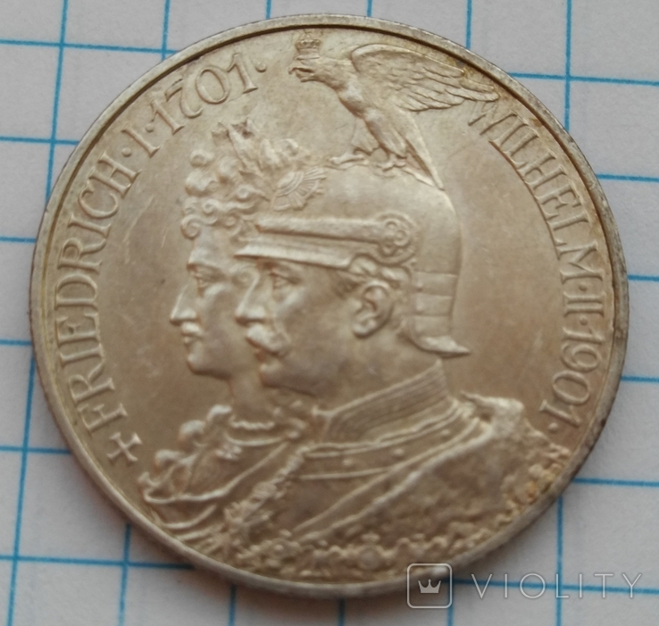 2 Марки 1901 200 Лет Династии Гогенцолернов, Пруссия, фото №4