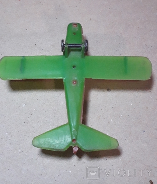 Самолётик Кукурузник с пилотами. Длина 9 см., фото №3