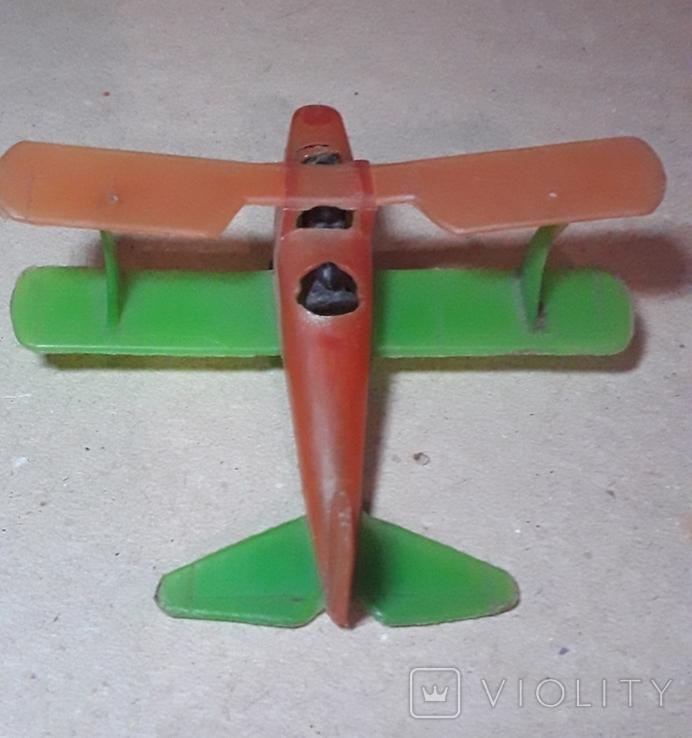 Самолётик Кукурузник с пилотами. Длина 9 см., фото №4