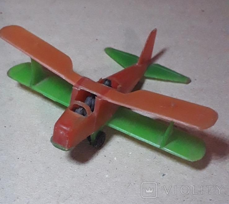Самолётик Кукурузник с пилотами. Длина 9 см., фото №2