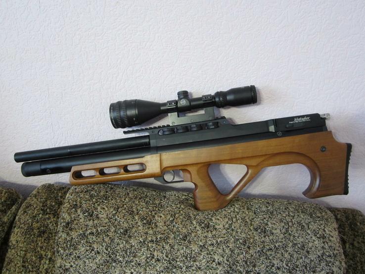 Пневматическая винтовка Эдган Матадор стандарт. Буллпап.Кал. 6.35, фото №6