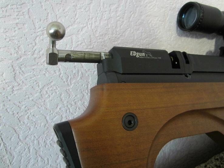 Пневматическая винтовка Эдган Матадор стандарт. Буллпап.Кал. 6.35, фото №13