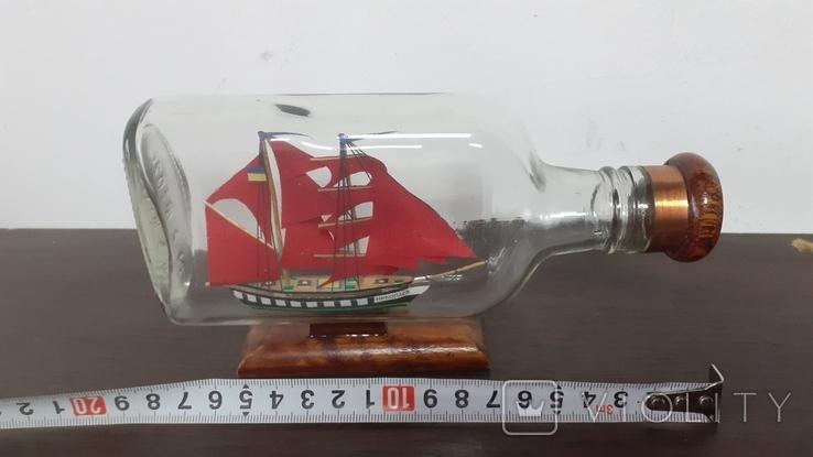 Корабль в бутылке. Модель ручная работа, фото №4