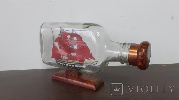 Корабль в бутылке. Модель ручная работа, фото №5