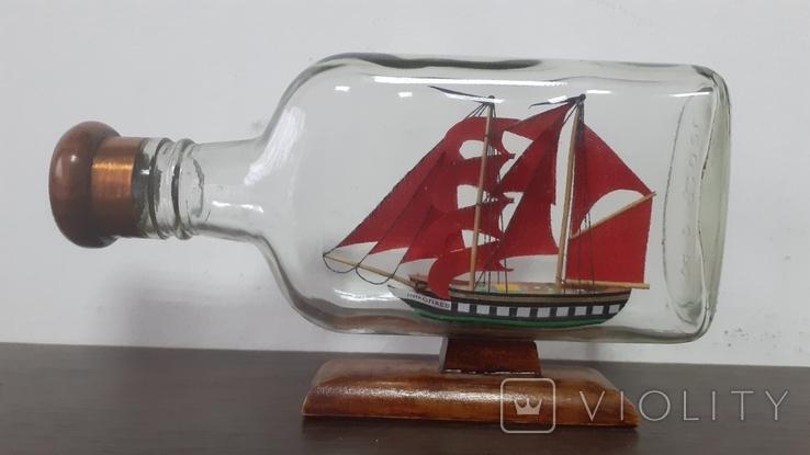 Корабль в бутылке. Модель ручная работа, фото №9