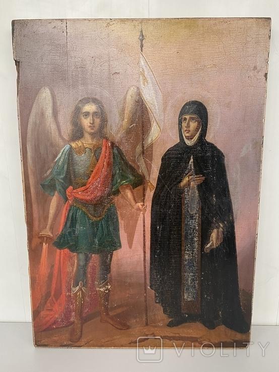 Икона Михаил и Святая