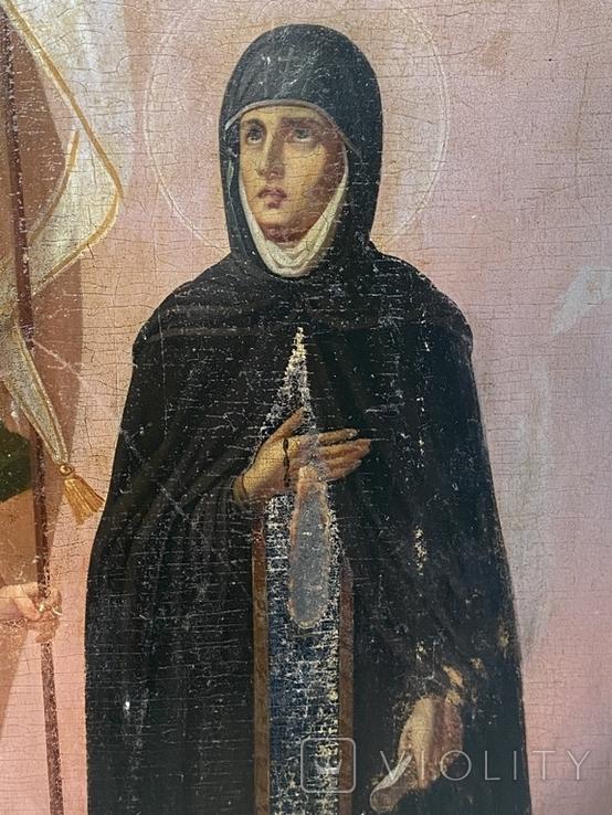 Икона Михаил и Святая, фото №3