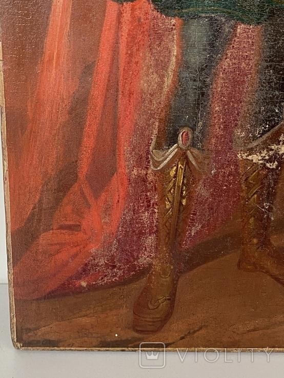 Икона Михаил и Святая, фото №5