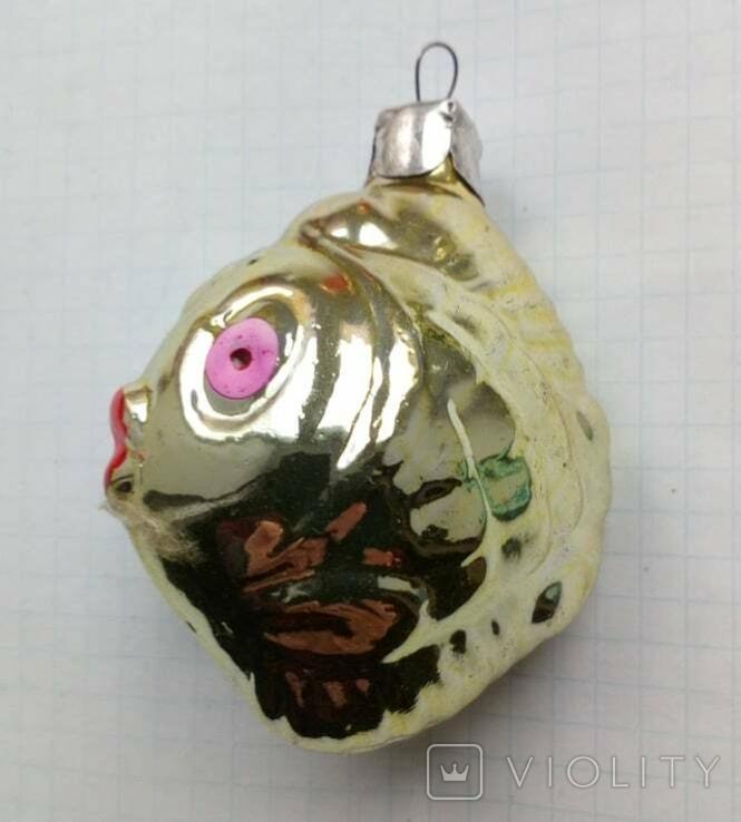 Елочная игрушка Рыбка с розовыми глазами СССР 1960г., фото №2