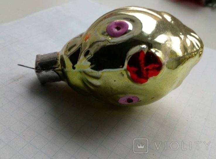 Елочная игрушка Рыбка с розовыми глазами СССР 1960г., фото №5