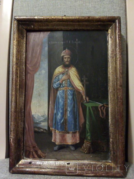 Икона Св.Равноапостолный В.К. Владимерь., фото №2