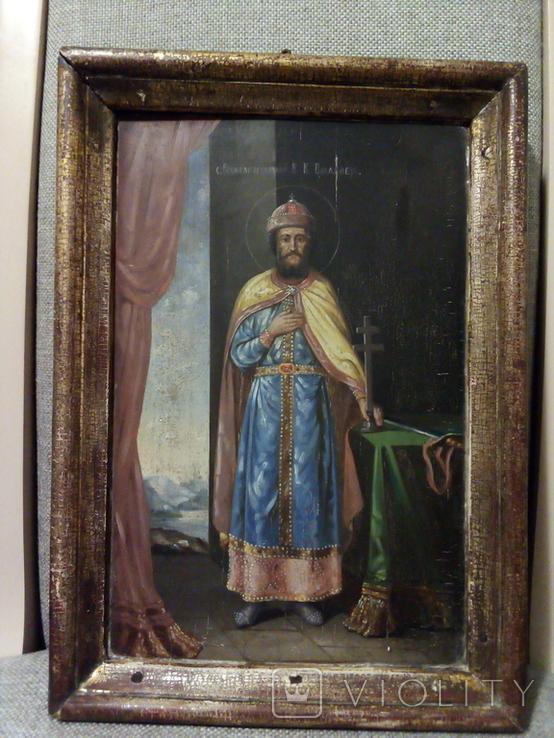 Икона Св.Равноапостолный В.К. Владимерь., фото №5