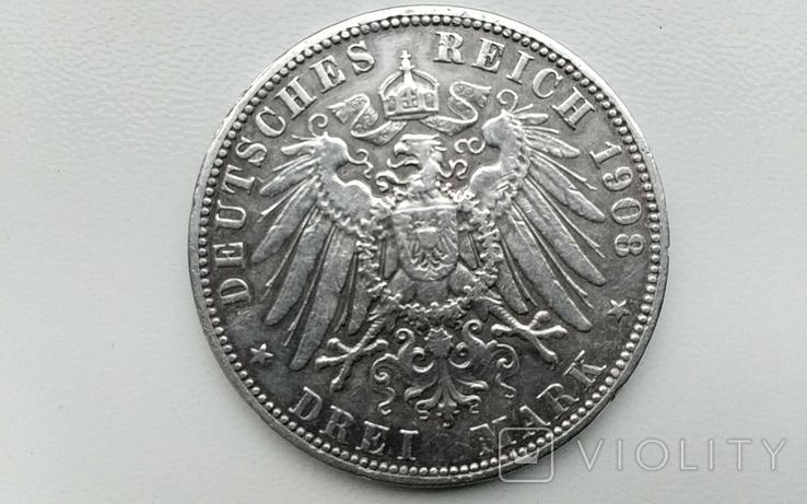 3 марки 1908 г. Пруссия., фото №3