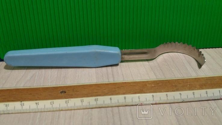 Нож для фигурной нарезки масла времен СССР, фото №3