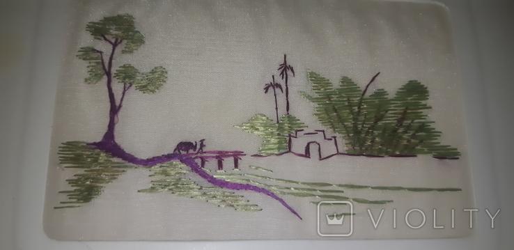 Открытка листівка китайськая вышивка, фото №7