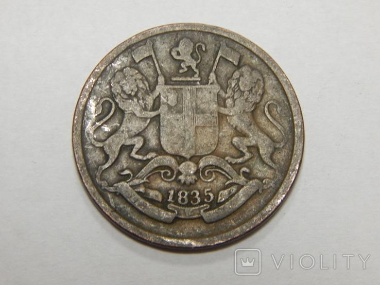 1/4 анна, 1835 г Британская Индия, фото №3