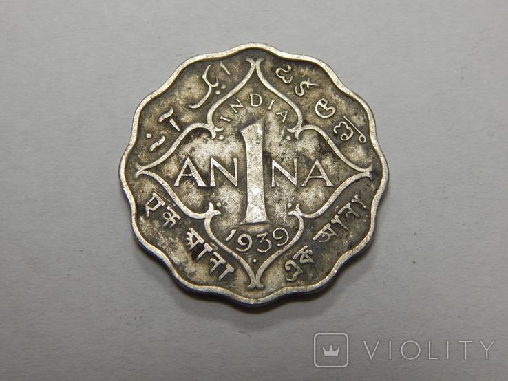1 анна, 1939 г Индия, фото №2