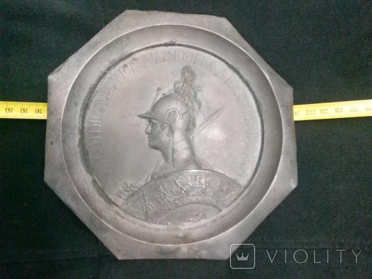 Копия Настольной Кабинетной Медали Царь Александр 1 РИА, фото №2