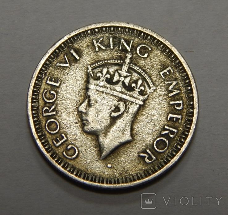 1/4 рупии, 1943 г Индия, фото №3
