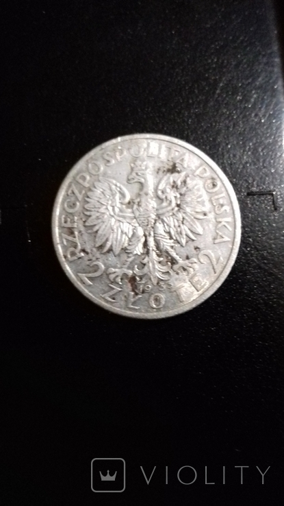 2 злотих 1933 Єдвіга, фото №3