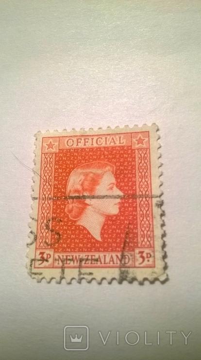 Старая марка Новой Зеландии.