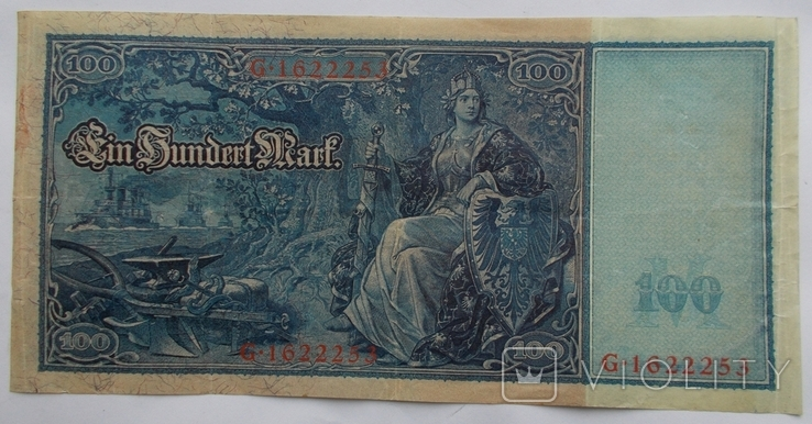 100 марок 1910 г. - 1, фото №2