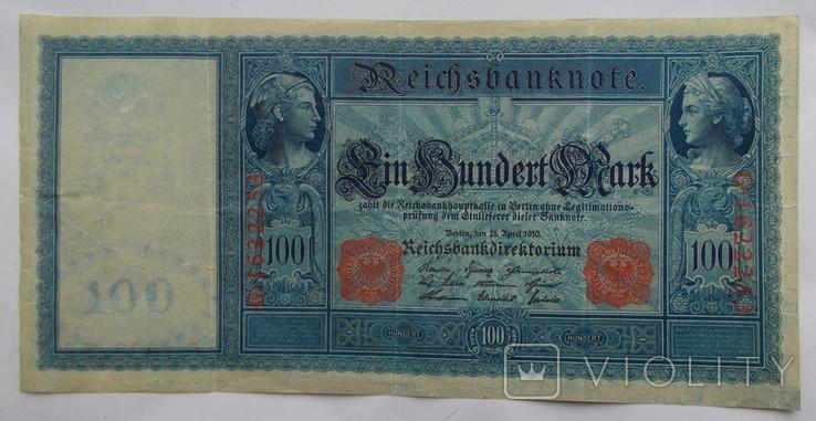 100 марок 1910 г. - 1, фото №3