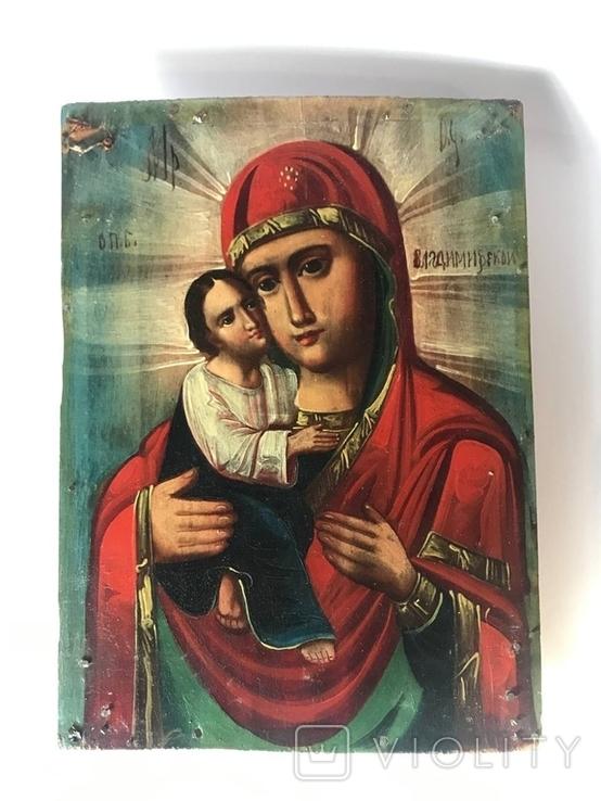 Икона Владимирской Божьей матери, фото №8