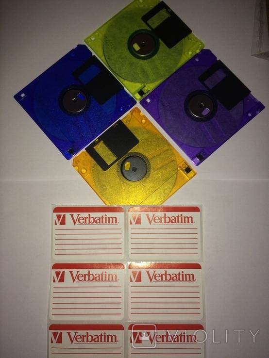Floppy Verbatim Новые флоппи дискеты + бонус + наклейки оригинал, фото №3