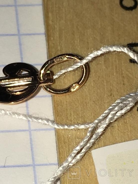 Золотой подвес Доллар / золотий підвіс, кулон + бонус, фото №10