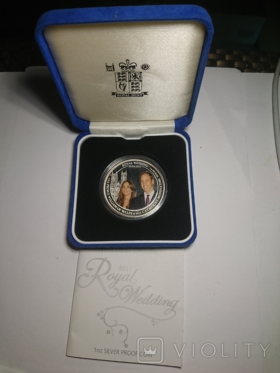 Австралия 1 доллар 2011 Королевская Свадьба, фото №2