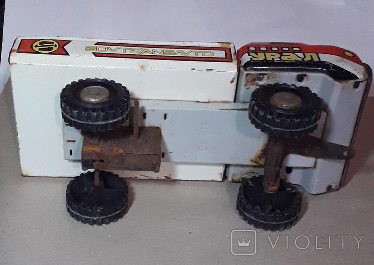 Машинка грузовик Урал,Совтрансавто,игрушка СССР, фото №6