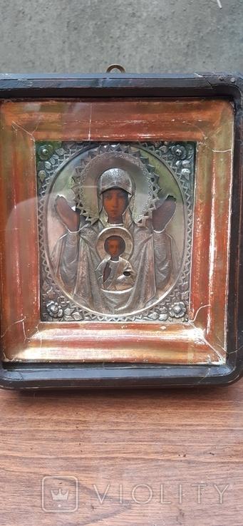 "Икона Богородица""Знамение""Серебро 84., фото №2"
