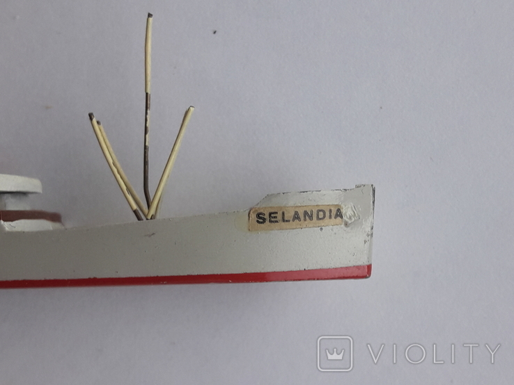 Модель теплохода m/s SELANDIA клеймо B&W Burmeister& Wain, фото №12