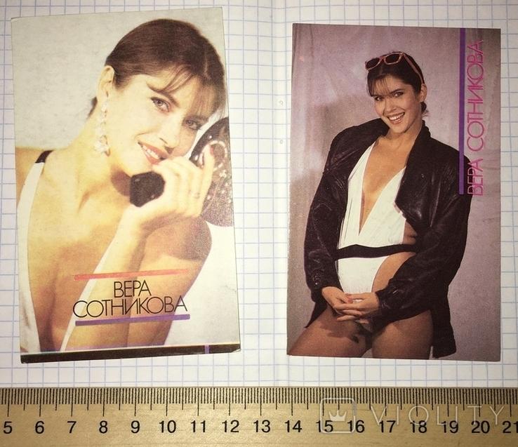 Календарики актриса Вера Сотникова, 1990 г. (эротика) / дівчина, еротика, фото №2