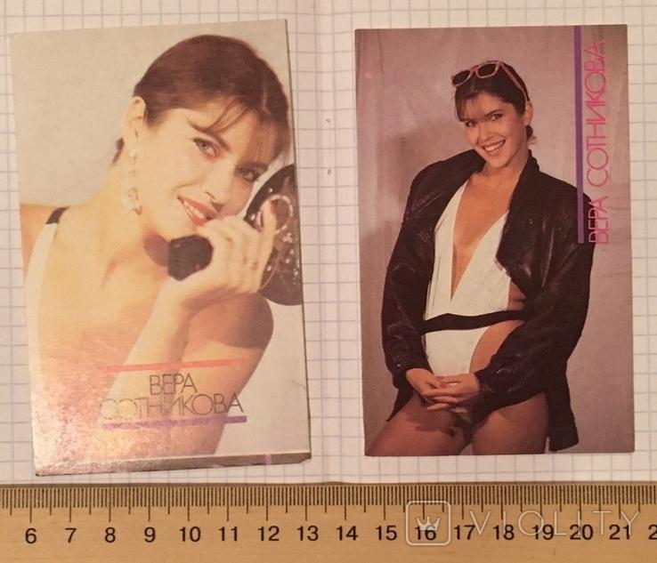 Календарики актриса Вера Сотникова, 1990 г. (эротика) / дівчина, еротика, фото №5