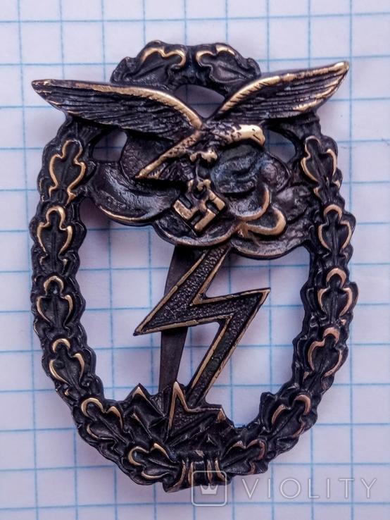 Знак За наземный бой Люфтваффе. Копия., фото №2