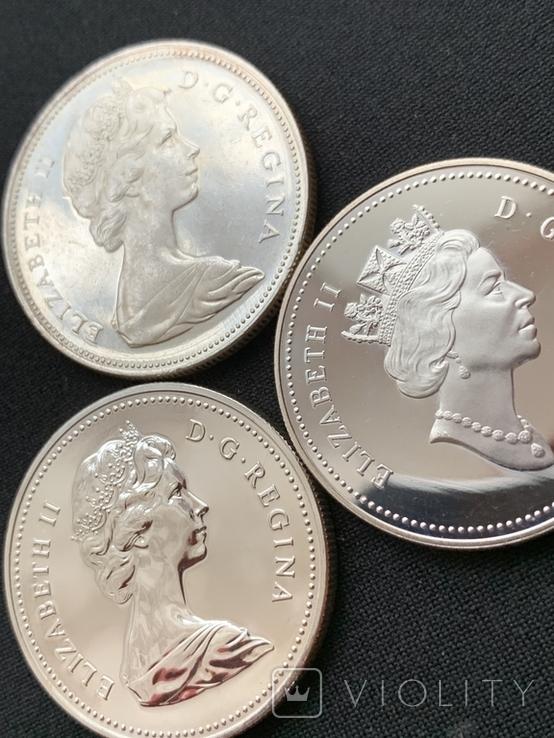 Канадский доллар (3шт.), фото №3