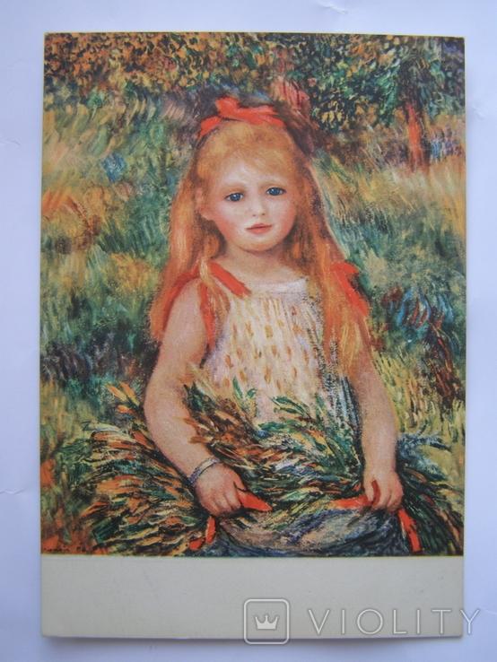 Маленькая цветочница. худ.Ренуар пр-ва Италия, фото №3