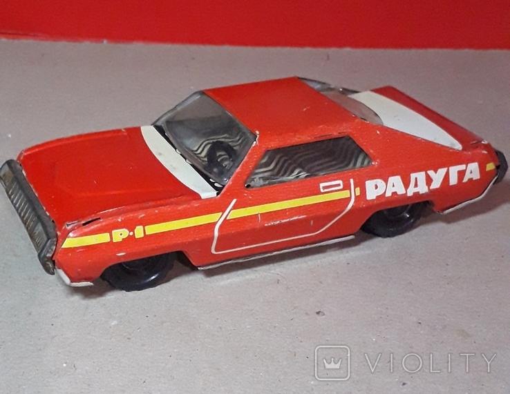 Инерционная гоночная машинка РАДУГА-РАЛЛИ из СССР, фото №3