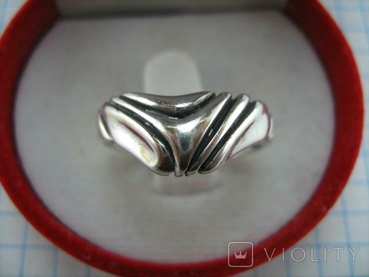 Серебряное Кольцо Размер 17.5 Треугольник Нос 925 проба Серебро 766, фото №3