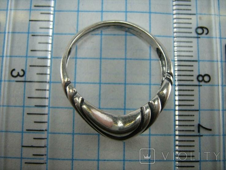Серебряное Кольцо Размер 17.5 Треугольник Нос 925 проба Серебро 766, фото №5