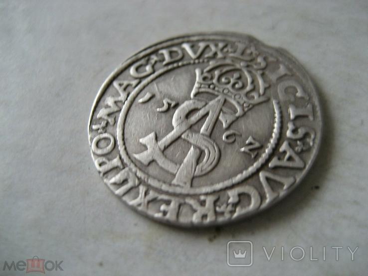 3 гроша 1562 г Литва Сигизмунд II Август, фото №3