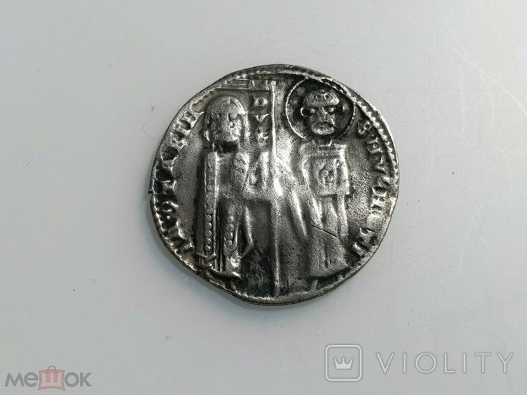 Венеция 1 гроссо 1275 - 1280 гг Дож Якопо Контарини., фото №2