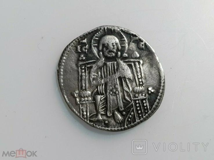 Венеция 1 гроссо 1275 - 1280 гг Дож Якопо Контарини., фото №3